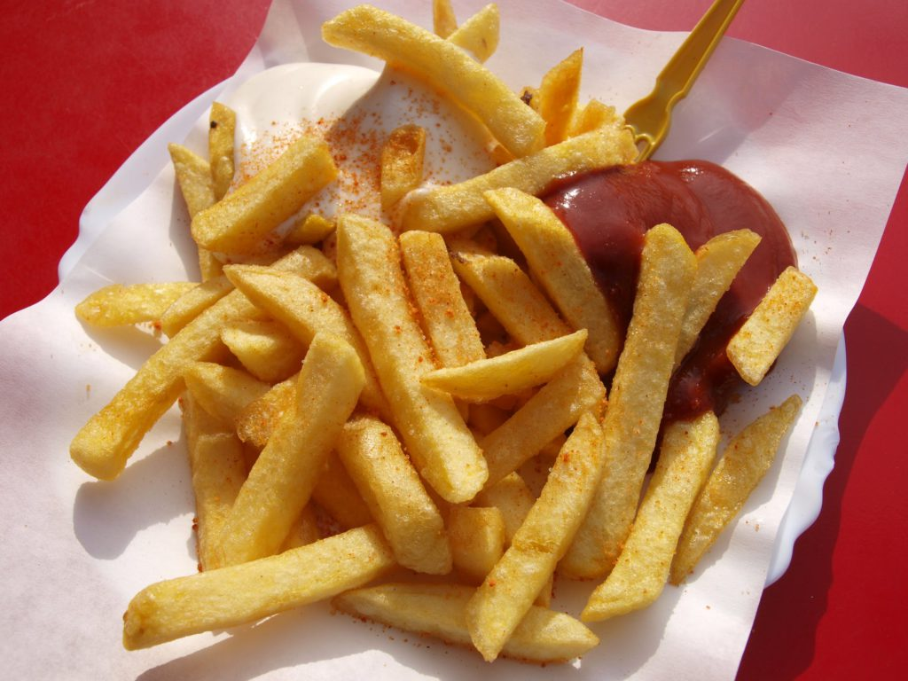 Free Food at Fast Food French Fries Ketchup