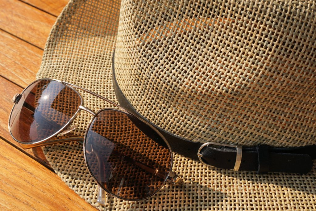 Glasses and Straw Hat