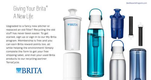 Brita filter recycling program earn MyBrita points