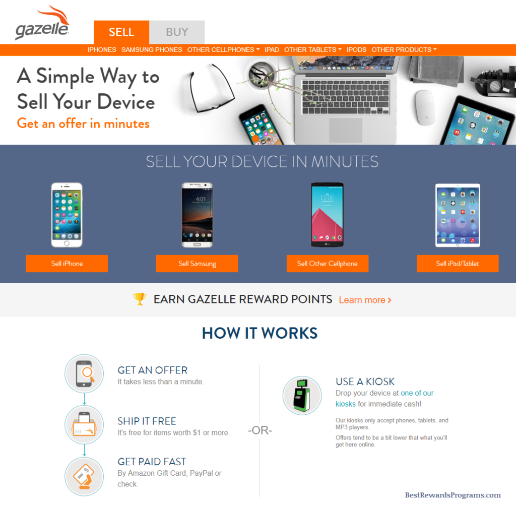 Gazelle Electronics Buy and Sell Mobile Devices