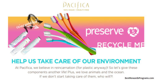 Pacifica's Preserve Recycling Rewards Program