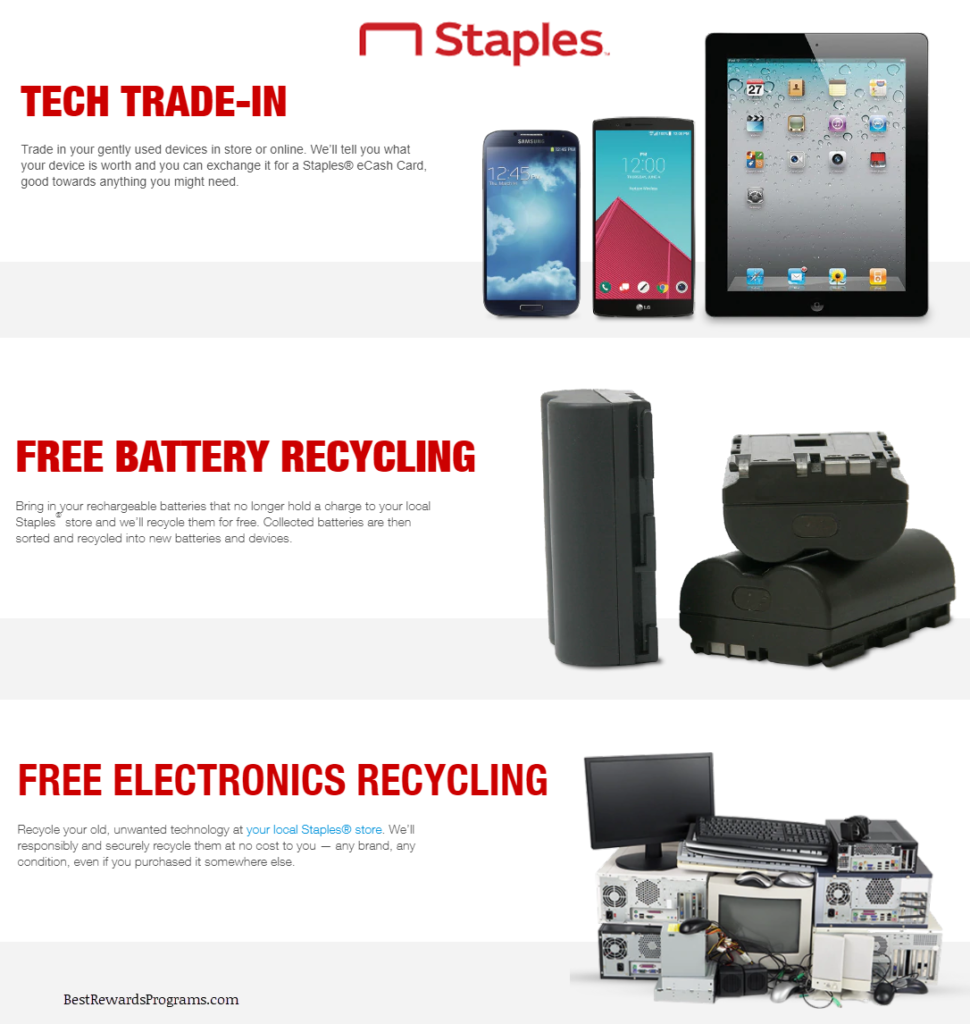 Staples Electronics and Battery Recycling Programs
