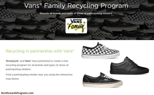 Vans Family Shoe Recycling Program