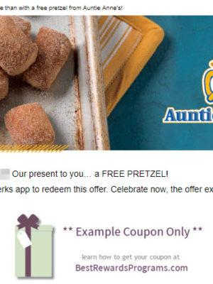 Auntie Anne's Free Birthday Gift of Free Pretzel