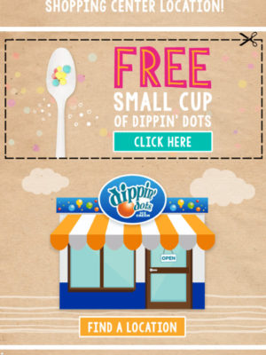 FREE SMALL CUP OF DIPPIN' DOTS at Dippin' Dots! #DippinDots #BirthdayFreebies