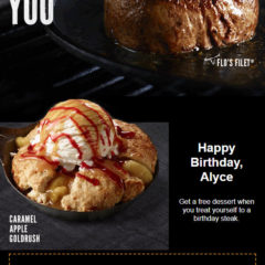 LongHorn Steakhouse Free Birthday Food #longhornsteakhouse