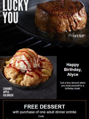 LongHorn Steakhouse Free Birthday Food #longhornsteakhouse