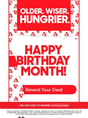 Free Birthday Food at Pizza Hut