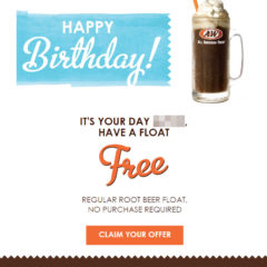 A&W Free Birthday Food #awrestaurants