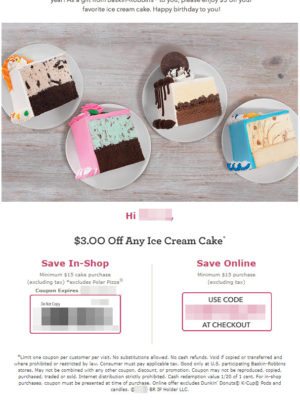 Baskin Robbins Free Birthday Food #baskinrobbinsUS #baskinrobbins #baskinrobbins31