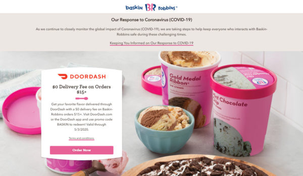 Baskin Robbins Free Ice Cream Delivery