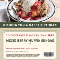 Mimi's Café Free Birthday Food #mimiscafe #mimis_café