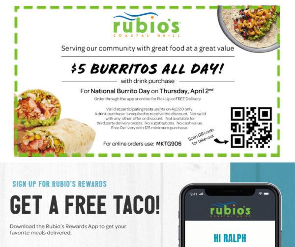 National Burrito Day at Rubio's