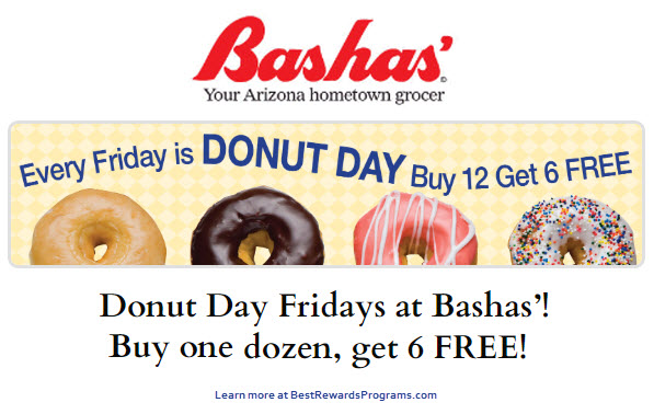 Bashas Donut Day on Fridays in 2020