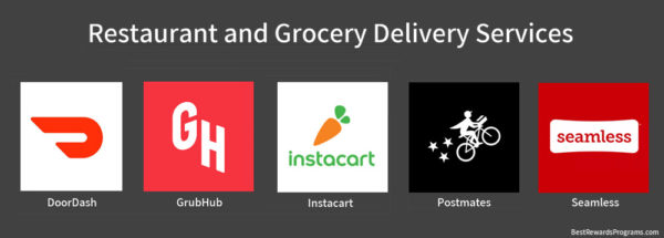 Local Restaurant Delivery Service Apps DoorDash, GrubHub, Instacart, Postmates, + Seamless