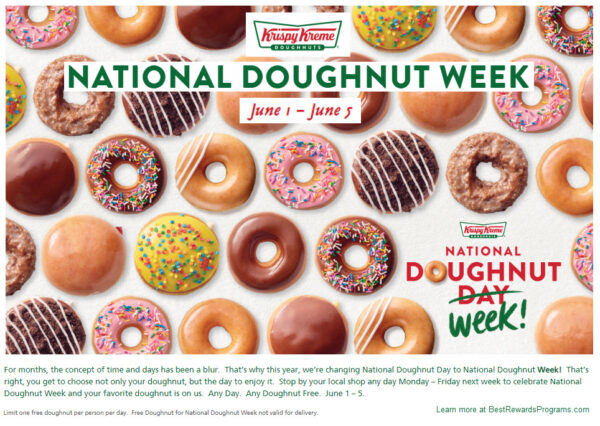 Krispy Kreme National Doughnut Week 2020 (June 1 - June 5)