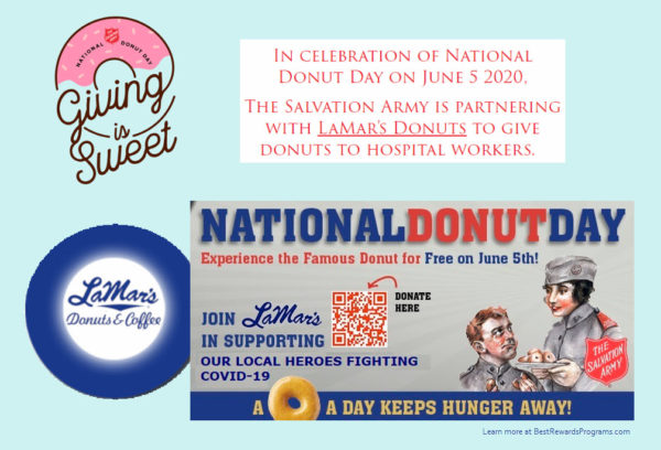 LaMar's Donuts Free on National Donut Day June 5, 2020