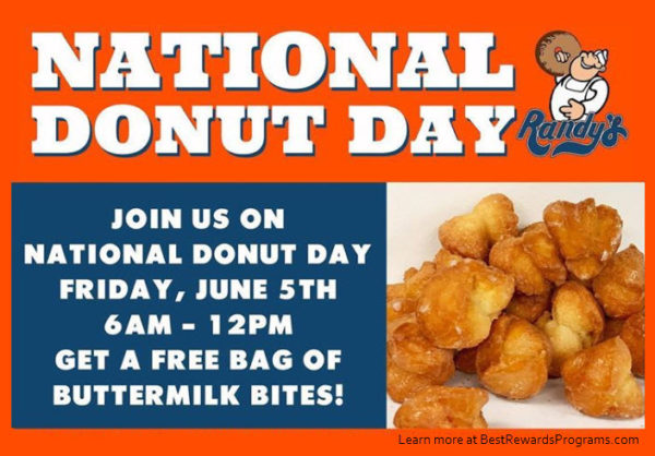 Randy's Donuts Free Offer for National Doughnut Day 2020