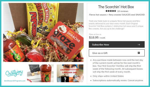 Father's Day Gift Subscription of Monthly Scorchin' Hot Snacks!
