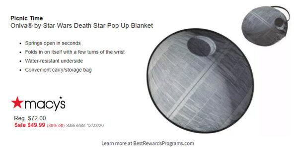 Star Wars Gift Pop Open Picnic Blanket