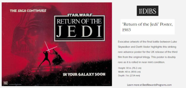 Star Wars Gift Collectible Return of the Jedi Movie Poster (1983)