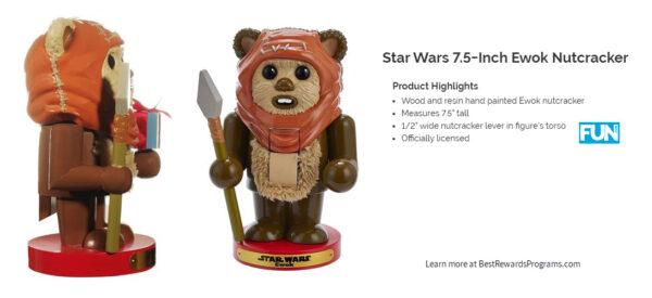 "Star Wars Home Gift 7.5"" Ewok Nutracker"