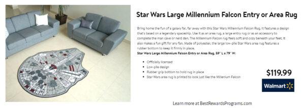Star Wars Gift Millennium Falcon Rug